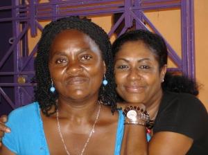 Iliamene Joseph Madam Jean Marc and Fonkoze USA's Linda Boucard.