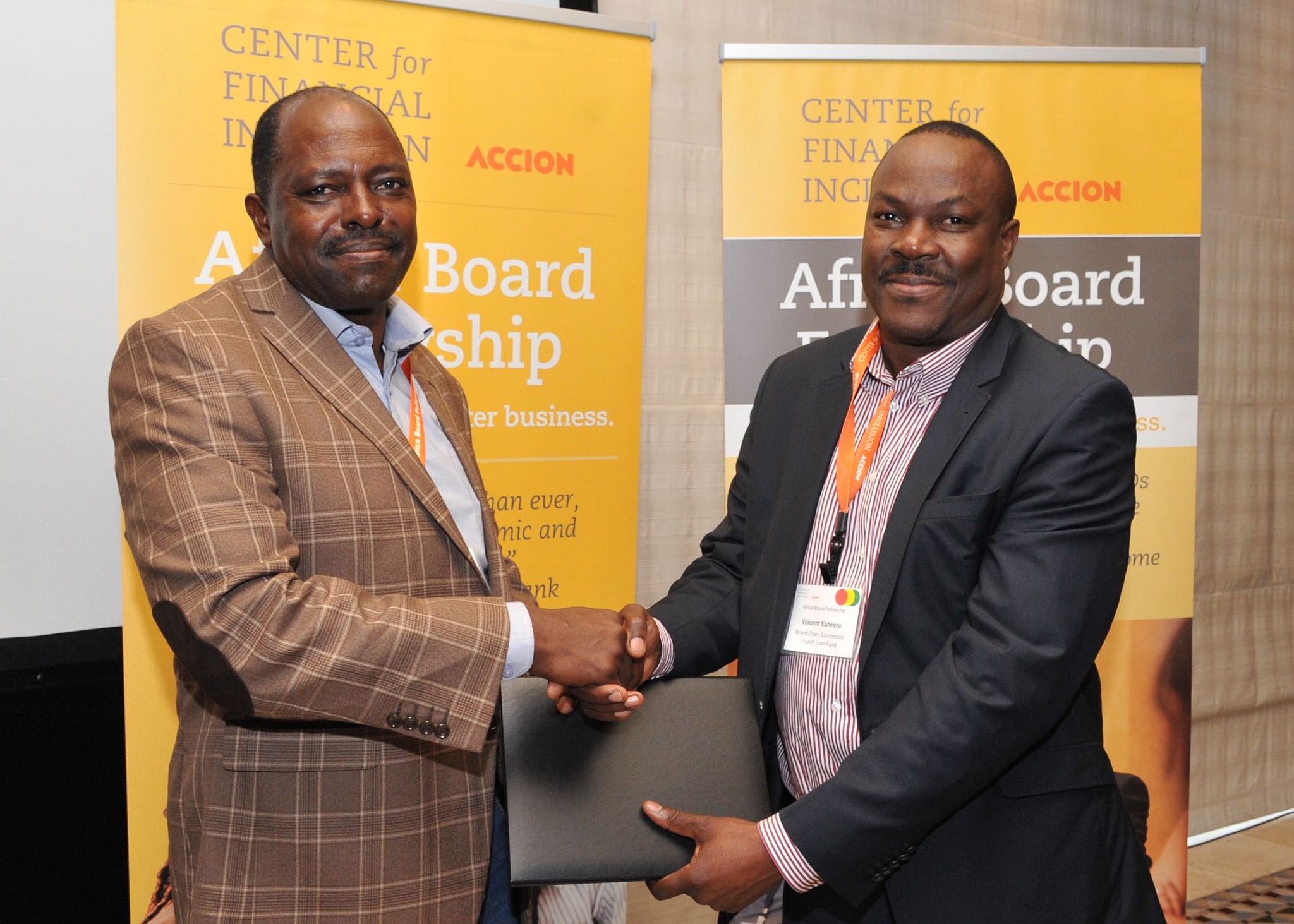 ABF Fellows Vincent Kaheeru and Robert Ongodia