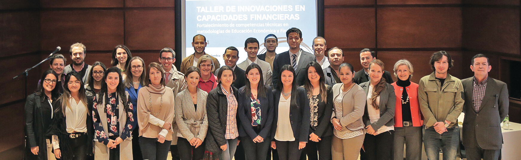 Financial capability building workshop participants, July 2017. Photo credit: Banco de la República