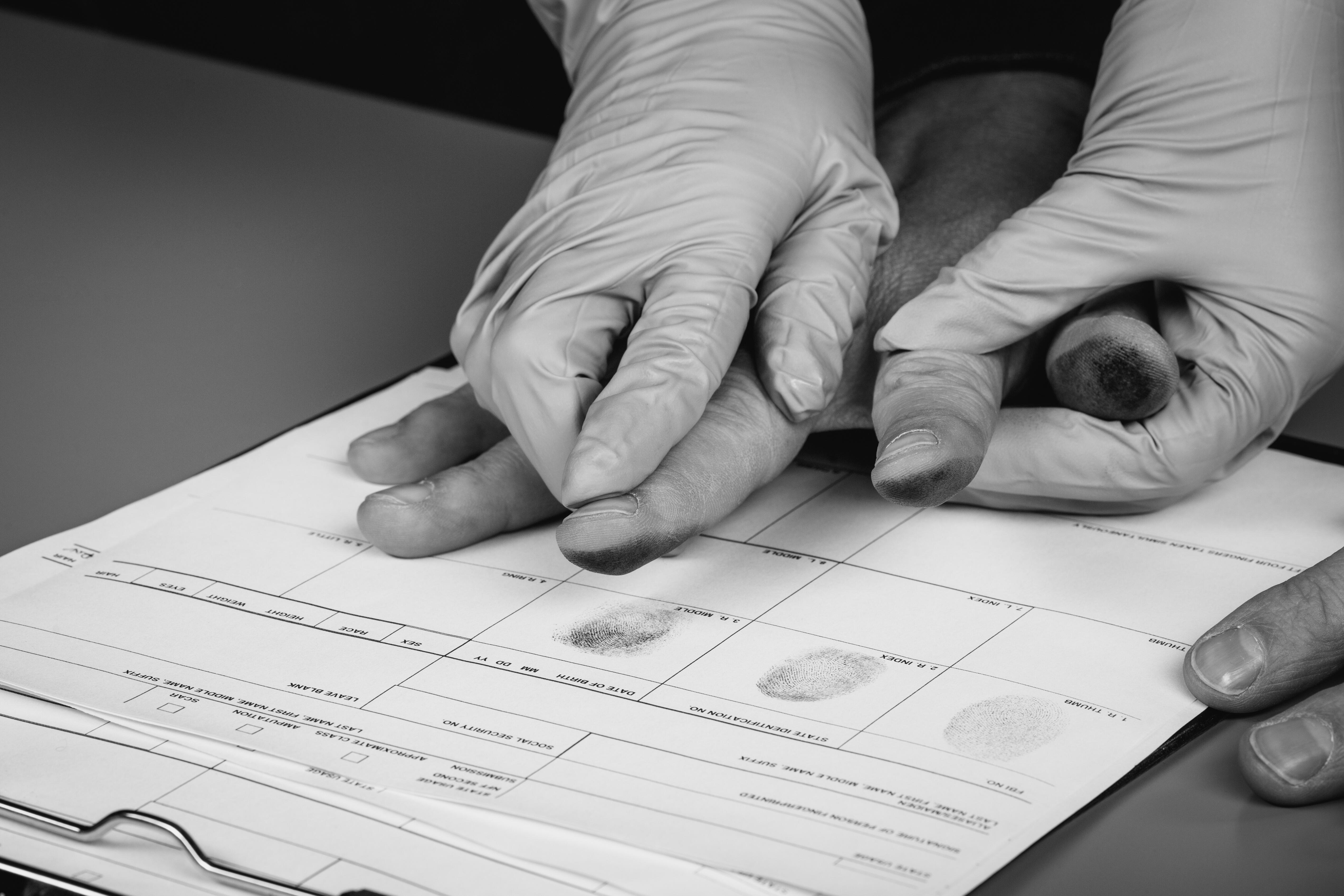 Taking fingerprints of a client